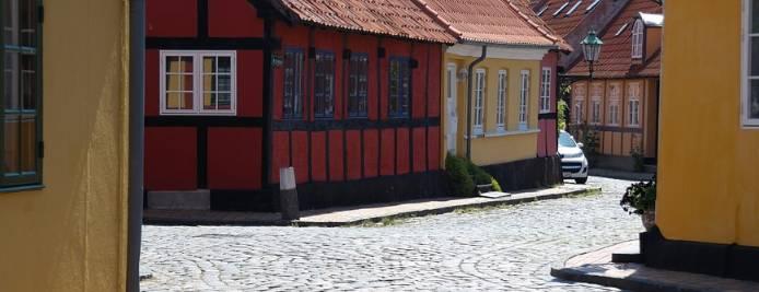 Tradycyjne domki na wyspie Bornholm